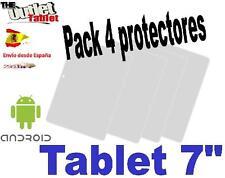 """Pack 4 Protectores pantalla para Tablet Unusual U7X de 7"""" 7 pulgadas Universal"""