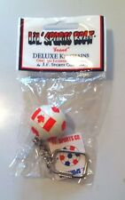 TEAM CANADA FLAG SOCCER BALL KEYCHAIN - CANADIAN