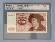 Germany - Federal Republic 500 Deutsche Mark P-35-B  AU 58 TOP