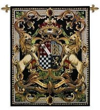 MEDIEVAL COAT OF ARMS CREST II ART TAPESTRY WALL HANGING 41x53