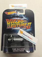 Time Machine Hover Mode *Back to the Future * 2015 Hot Wheels Retro Case H *Z105