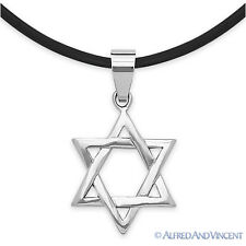 Stainless Steel Magen Star of David Judaica Jewish Charm Pendant Choker Necklace