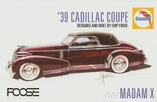 "2016 Chip Foose BASF Glasurit ""Madam X"" '39 Cadillac Coupe SEMA Show info card"