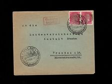 Germany Postwar Anti Hitler Mylau 1945 6p Smudged Face Overprint Pair Cover 5p