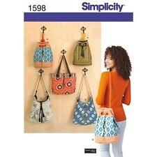 SIMPLICITY SEWING PATTERN BAGS IN FIVE DESIGNS   1598