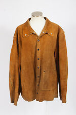 Vtg 90s STEINER Heavy Brown Suede Leather Welding Work Western Jacket Mens XL