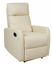 POLTRONA RELAX RECLINER   ECOPELLE POLTRONCINA TV SALOTTO CAMERA LETTO
