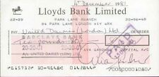 AVA GARDNER (CHEQUE) SIGNED AUTOGRAPH