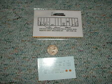 Oddballs decals N Gauge Chicago Great Western PS2 CD grain ptd grey  H50