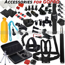 Set Kit for Go pro Gopro Hero 4 3+ 3 2 SJCAM Camera SJ4000 Monopod Chest Mounts