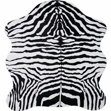 "Zebra Animal Print Rug w/ Non-slip backing & comfort padding.  29"" X 15"" X 17"""