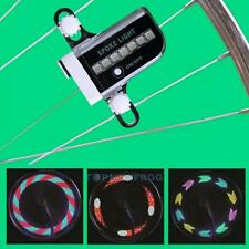 New 14 LED 30 Patterns RGB Bicycle Wheel Spoke Light Double Side Colorful Light