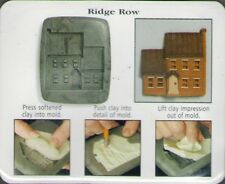 Amaco PUSH MOLD Mould House Series 1 Country #2 RIDGE ROW HOUSE Sheri Frey 1999