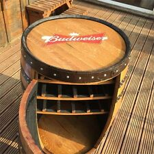 "Solid Oak Whisky Barrel Budweiser ""Balmoral"" Drinks Wine Rack"