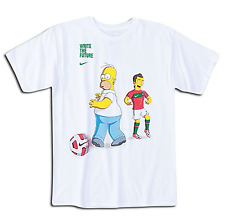 Nike 'Write The Future' Homer Simpson v Cristiano Ronaldo Tee Shirt - XXL