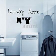 Removable Vinyl Decal Art Mural Laundry Room Quote Cloth Art Wall Sticker Decor