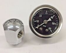 Chrome Rocker Box Shaft End Oil Pressure Gauge Harley Ironhead Shovelhead hd xl