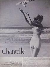 PUBLICITÉ 1961 LA GAINE CHANTELLE 643 ET GORGERETTE 107 - MOUETTE - ADVERTISING