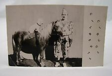 VINTAGE GILBERT'S CIRCUS CHESSINGTON ZOO REAL PHOTO POSTCARD CLOWN HORSE POODLE*