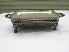 EARLY FOOTED SILVERPLATE FOOD WARMER