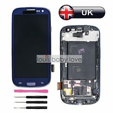 For Samsung Galaxy S3 I9300 LCD Display Digitizer Touch Screen Blue Replacement