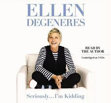 ELLEN DEGENERES SERIOUSLY I'M KIDDING Unabridged 3 CD Audiobook Set Read by her!