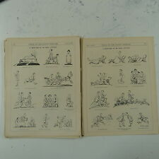 """7x10"""" punch cartoon 1923 A WEEKEND AT AN IDEAL COTTAGE double page"""