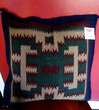 "New  4 Corner Wool   Pillow Cover Handwoven  Sofa Southwestern 21"" x 21"""