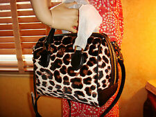 NWT TORY BURCH ROBINSON Leopard Print Calf Hair Mini MIDDY SATCHEL $495 DustBag