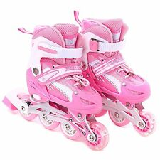 Girls Inline Skates Adjustable Rollerblades for kids with Illuminating Wheel the