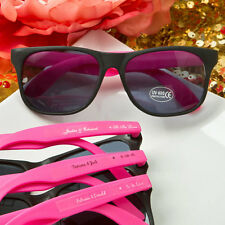 40 Personalized Hot Pink Sunglasses Bridal Shower Outdoor Wedding Party Favors