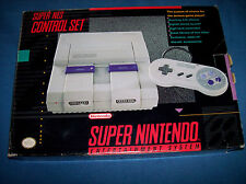 Super Nintendo SNES Control Set Console System Box + two games & 2nd controller