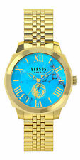 Versus by Versace Men's Chelsea Wristwatch SOV050015 Yellow Gold Torquoise Dial