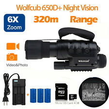 Night Vision Adjustable Monoculars Camping Telescope 4GB 650D+ IR Scope+Battery