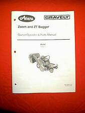 ARIENS GRAVELY ZOOM & ZT BAGGER & BLOWER MODEL 815015 OWNERS WITH PARTS MANUAL