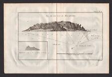 ARCHIPEL JUAN FERNANDEZ ou MASAFUERO Gravure Voyage de James COOK 1774