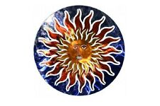 Sun Face Wall Art Home Decor Metal Sculpture Modern Southwest Abstract Design