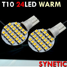 4x T10/921/194 Warm White RV Trailer Interior 12V LED Light Bulbs 24 SMD