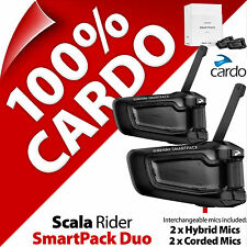 New Cardo Scala Rider SmartPack Duo Bluetooth Motorcycle Helmet Intercom Headset