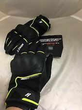 JOE ROCKET MENS SUPER MOTO TOUCH RACING GLOVES HI-VIZ SIZE XL  REAL PIC