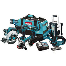 Makita LXT702 18-Volt 8-Tool Lithium Ion Recip Jigsaw Impact Drill Driver Combo