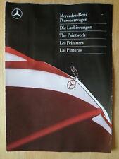 MERCEDES BENZ RANGE Exterior Paintwork Colours 1986-87 Brochure - CE SEC SL S