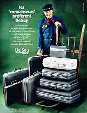 PUBLICITE ADVERTISING 016  1971  DELSEY   bagages valises Airstyle