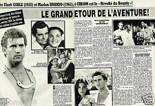 Coupure de Presse Clipping 1984 (2 pages) Mel Gibson Revolté du Bounty