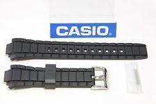 CASIO ORIGINAL EFR-519 Edifice 20mm Black Rubber Band Strap w/ 2 Pins EFR519
