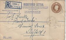 (91755) CLEARANCE GB Registered Cover Leeds 4 August 1943 FAIR/GOOD