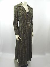 Home Sewn Matrix Style Snakeskin Print Fully Lined Trench Coat Jacket Gold Hooks