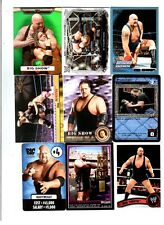 Big Show Wrestling Lot of 9 Different Trading Cards 3 Inserts WWE TNA BS-F1