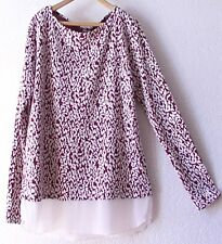 NEW~Berry & Ivory Tapestry Rose Tunic Blouse Shirt Top~16/18/14/XL