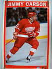RARE JIMMY CARSON RED WINGS 1990 VINTAGE ORIGINAL NHL STARLINE HOCKEY POSTER